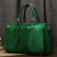 Бостонская сумка из натуральной кожи Для женщин сумка \ сумки из натуральной кожи с леопардовым рисунком; женская сумка в форме подушки сумк