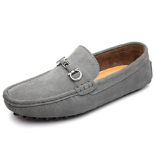 2017 New Mens Shoes Big Size Casual Driving Shoes Leather Comfortable Mens Loafers Black Gray Slip On Footwear Men