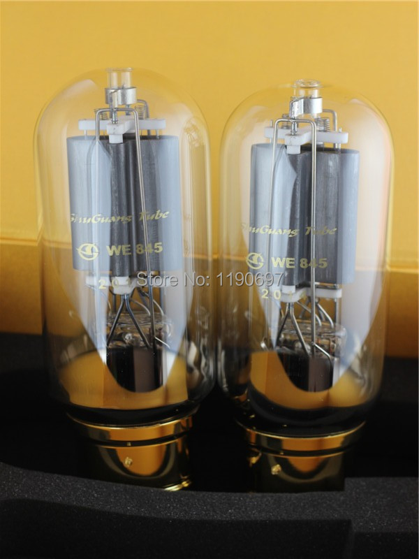 купить 2PCS NEW SHUGUANG Matched Pair WE845 845 TUBEHIFI ELECTRON Tube 4PINS Vacuum Tube недорого
