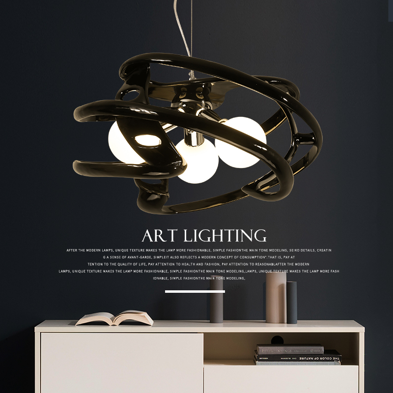 Living room lamp atmosphere Nordic resinous chandelier dining room lighting modern bedroom lamps pendant Light 2217 nordic modern 10 head pendant light creative steel spider lamps unfoldable living room dining room post modern toolery led lamp