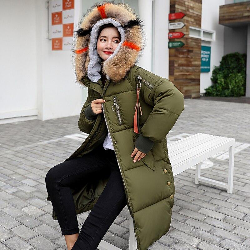 D'hiver Vers Épais Parkas Nouveau Mujer 2018 Automne L'ukraine Femelle Fourrure Hiver rust Veste big caramel Pink blue Femmes gray Bas Manteau Green Red Red Vêtements Le Coton black white Féminins Outwear army w0EXqz