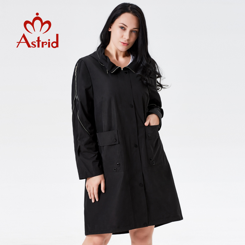 2019   trench   coat spring women Hooded Fashion female   trench   clothes Classic manteau femme hiver Ukraine ladies new astrid AS-7007