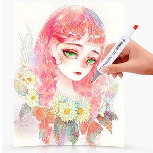 Image 5 - Touchnew farbige kopie marker set alkohol skizze marker stifte kunst liefert pinsel manga zeichnung acryl Designer pen set student