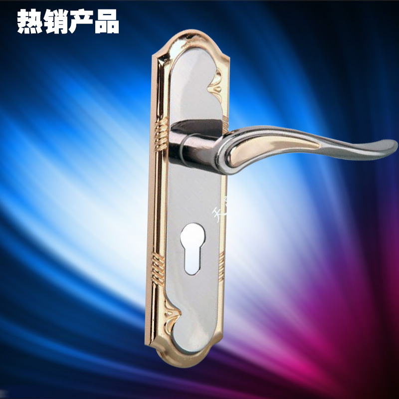 Indoor lever door lock bedroom handle knob lock set black - Door handles with locks for bedrooms ...