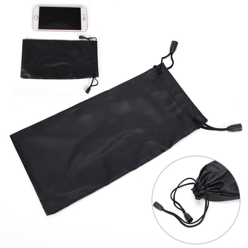 3Pcs DIY Porable Soft Cloth Microfiber Pouch Eyewear Bag Case For Travel Sunglasses Glasses Black
