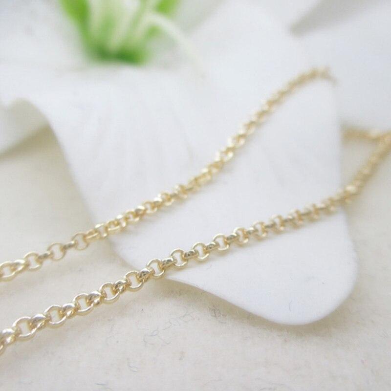 Licht gold farbe schleife kreis kette licht gold kette für DIY ...