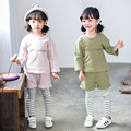 spring autumn children clothing kids clothes boys & girls sets baby  mock two pcs coats + pants child set baby clothes