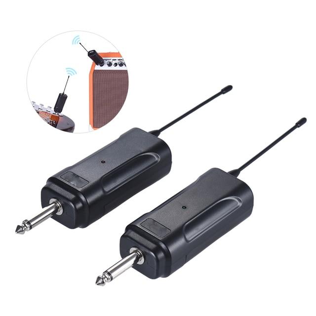 المحمولة اللاسلكية جهاز إرسال سمعي نظام استقبال ل الغيتار الكهربائي باس الكهربائية آلة الكمان الموسيقية
