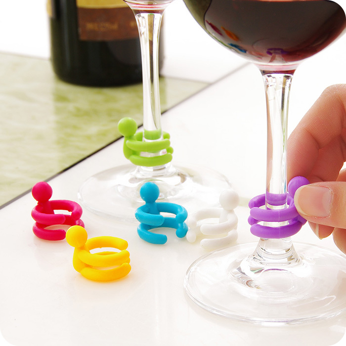 eTya 7 pcs/set Cup Silicone Marker Wine Glasses Stopper