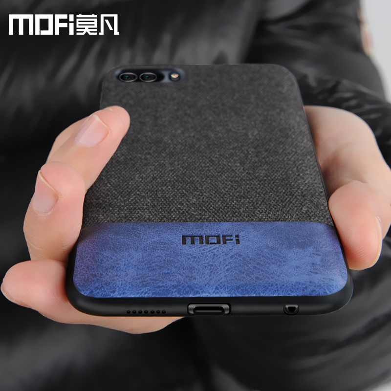 Huawei honor 9 case cover honor9 back cover silicone edge shockproof men business fabric case coque MOFi original honor 9 case