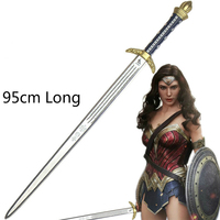 Simulation Sword Weapon Armor Cosplay for Wonder Woman Vestidos US Movie Anime Superhero Party Helloween Costume Adult 95cm Long