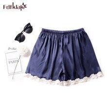 Fdfklak Sexy silk pajama pants women summer shorts sleepwear pant loung