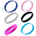 Top Deals Fashion Silicone Rubber Elasticity Wristband Wrist Band Cuff Bracelet Bangle