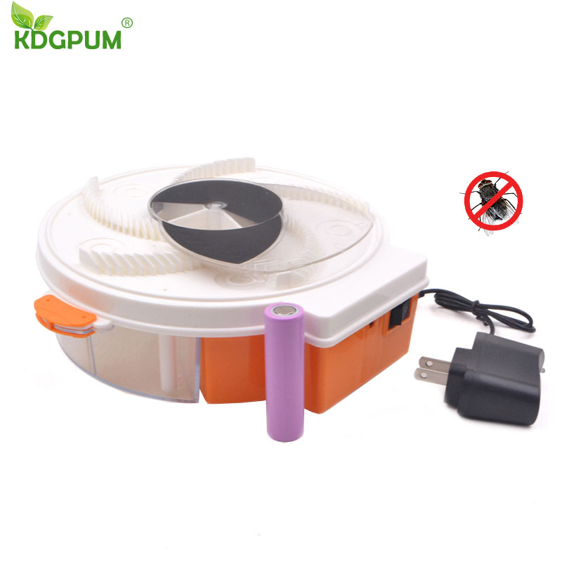 Insect Traps Fly Trap Electric Automatic Rechargeable Flycatcher Pest Reject Control Catcher Mosquito Flying Fly Killer Flytrap