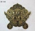 Chinês antigo bronze acessórios Maçaneta Da Porta Cobre Zhaocaijinbao DB-346 14 CM