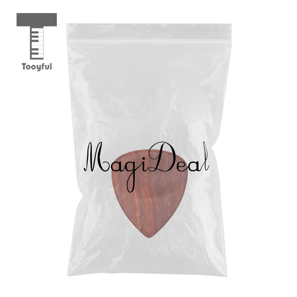 Tooyful Wood Acoustic Guitar Pick Plectrum Hearted Shape Picks  for Bass Part #3