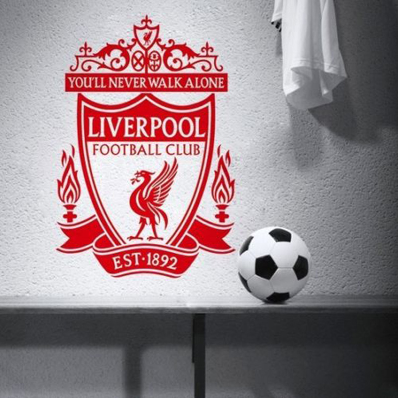 YOYOYU Liverpool Vinyl Wall Sticker Football Club EPL Team Logo Removable Decal Livingro ...