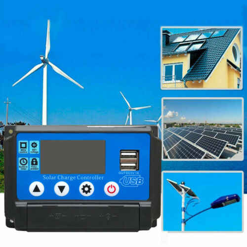 10-60A MPPT Solar Panel Regulator Charge Controller 12V/24V Auto Focus Tracking PWM