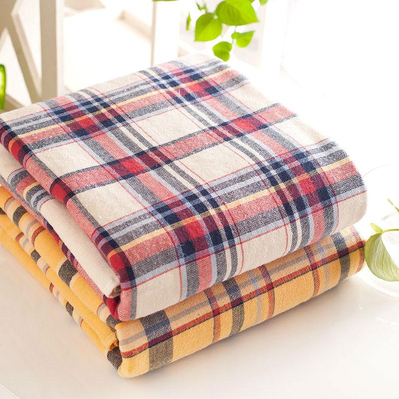 super thick absorbent soft comfortable plaid cotton bath towels 70x140cm large beach towel brand luxury - Large Beach Towels