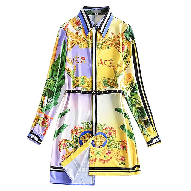 Floral Print Long Sleeved Shirt skirt