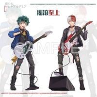 Anime My Hero Academia Midoriya Izuku Todoroki Shoto Rock and Roll Theme Acrylic Stand Figure Model Desk Decor Cosplay Gift