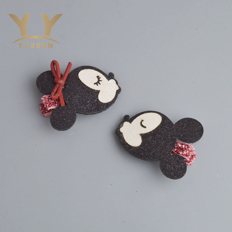 YYXUAN Kids Hairpins Glittle Mouse Hair Clips girl barrette Black Bow  hair clips for Hair Accessories S41 minnie mouse ears baby girl hair clip children clips accessories kids cute hairclip for girls hairpins hair clips pins menina