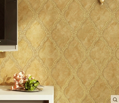 Europe type restoring ancient ways non-woven flocking and gold The sitting room dining-room bedroom TV setting wall paper 90 stereo video wallpaper tv setting europe type restoring ancient ways sitting room bedroom non woven wall sticker home decor