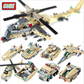 8 In 1 Military Aircraft Tank Building Blocks Kits 679pcs/set Enlightenment Assembling Plastic Construction Bricks For Kids J635