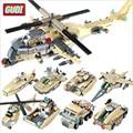 8 em 1 tanque do avião militar blocos de construção Kits 679 pçs/set iluminismo montagem tijolos de construção de plástico para crianças J635