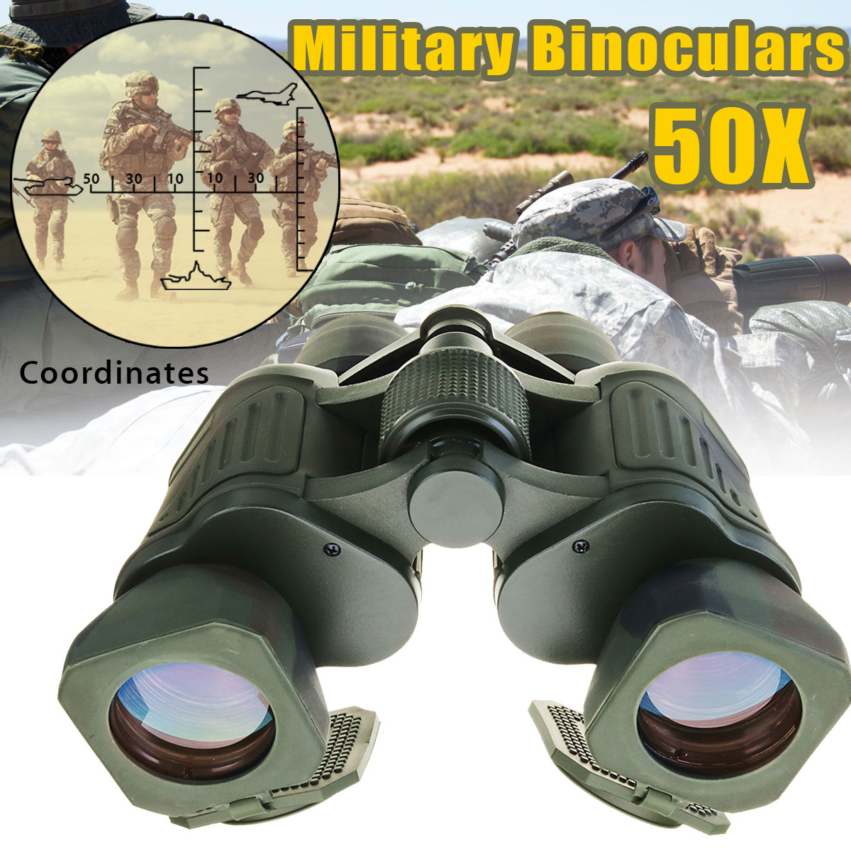 SGODDE 50x50 Tactical Binoculars Outdoor Night Vision Telescope HD Match Coordinates Low Light Level Hunting Telescope цена