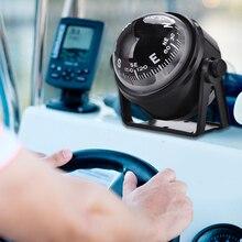 Автомобильный компас Портативный прочный ABS черный электронный Регулируемый военный морской шар ночного видения Компас для лодки автомобиля