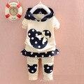 Новый baby boy девушка одежда наборы мультфильм случайные дети микки костюмы для новорожденных девочек одежда набор 2 шт. майка брюки ребенок