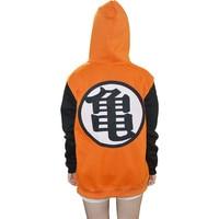 Dragon Ball Z Hoodie Goku Cosplay Hooded Sweatshirt Costumes Jacket For Kids And Adults XXS XXL