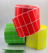 2000pcs/Roll Colour Sticker Roll 50x40mm 2 Row Stickers Blank Direct Thermal label Rolls for Zebra Printer no need ribbon(China)