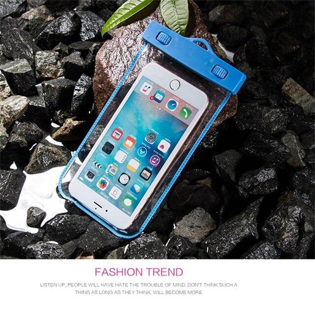 sale retailer 279e9 b3e77 US $2.59 |Waterproof Mobile phone Bag Case for Xiaomi M3 M4 M4C MI5 MI6  Redmi NOTE 4 Underwater Swimming phone cover-in Phone Pouches from  Cellphones ...