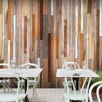 Simulatie hout behang persoonlijkheid retro restaurant cafe winkel slaapkamer studie achtergrond muur custom 3d muurschildering behang