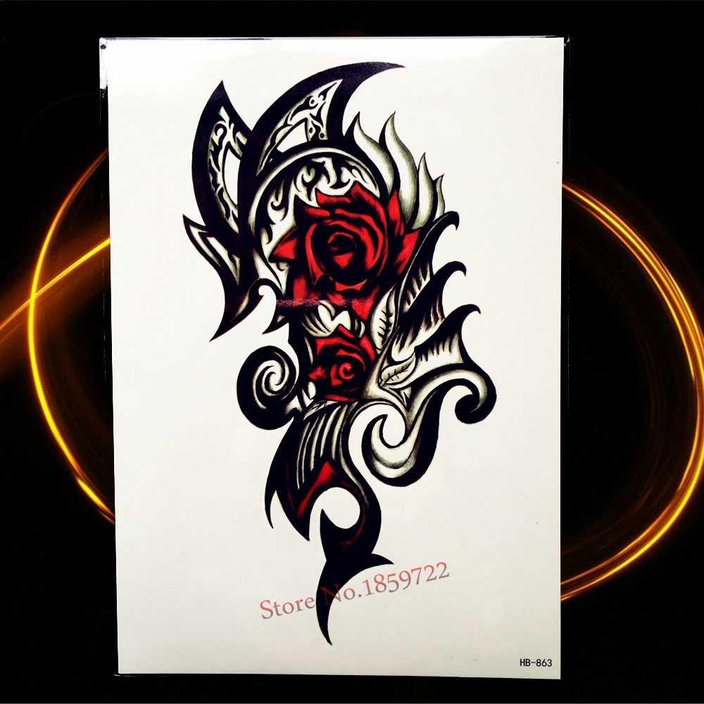 Одноразовые наклейки для татуировок для мужчин и женщин, черные наклейки для черепашек-ниндзя, рукава для татуировки, водонепроницаемые фальшивые татуировки для боди-арта, HHB523