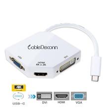 USB Adattatore C a HDMI Adattatore USB 3.1 di Tipo Hub 4 K c a VGA DVI HDMI Converter per smartphone Samsung S8 Macbook