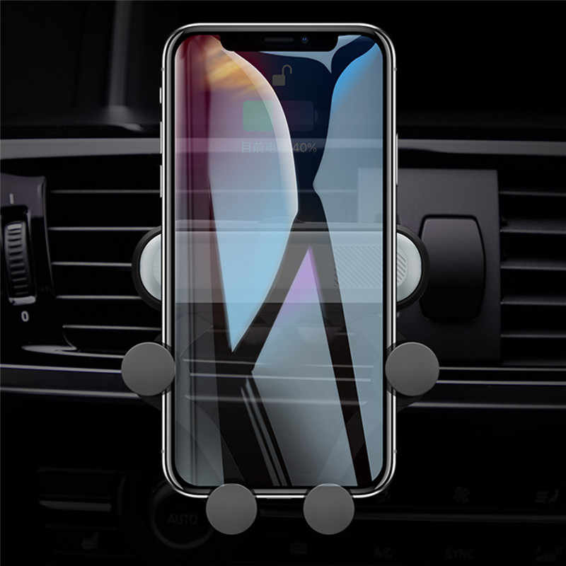 Universal Car Phone Holder Car Air Vent Mount Stand No Magnetic Mobile Phone Holder Gravity Smartphone Automatic Bracket Clip