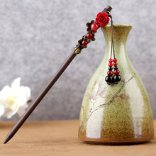 Handicrafts Ethnic Hair Sticks Vintage Women Tassel Headwear Traditional Chinese Costume Accessories Wooden Ornaments
