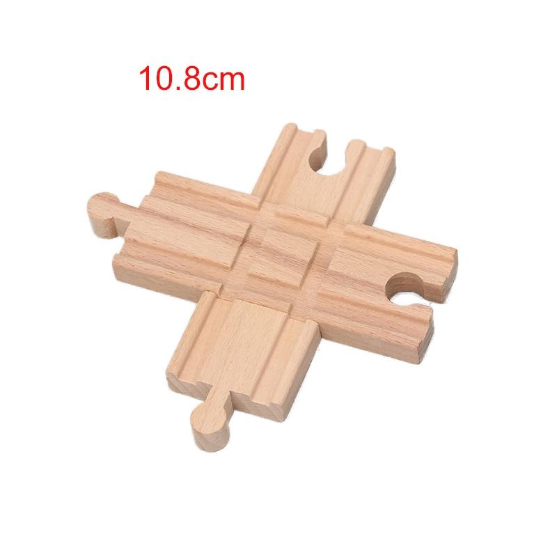10.8cm Cross Track 2pcs/set Wooden Train Track Set Toy Railway Train Accessories Educational Blocks Toys bloques de construccion