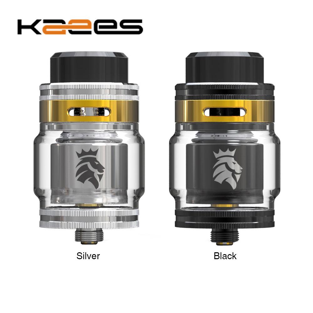 Originale KAEES Solomon 2 RTA 5 ml/3.5 ml Capacità Serbatoio W/810 Drip Tip & 510 Drip Tip Disponibile & Placcato Oro Deck E-cig Vape Serbatoio