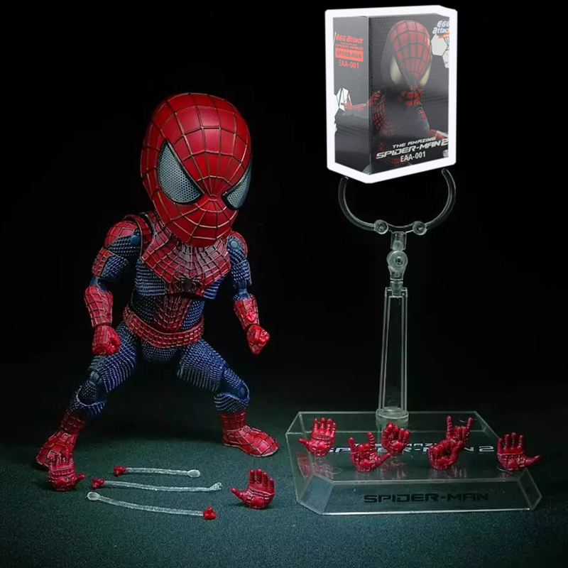 ФОТО Egg Attack The Amazing Spider-Man 2 EAA 001 Spiderman Figure Collection Model Toy Gifts For Kids