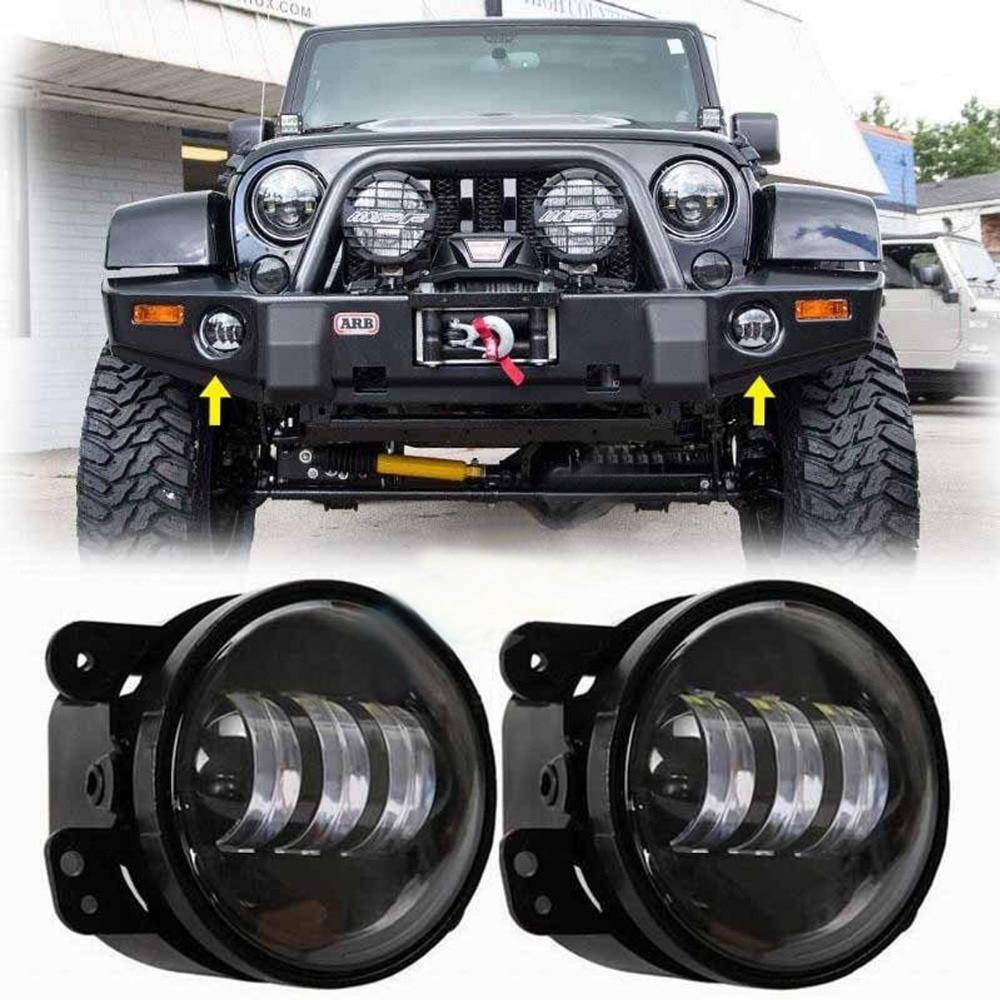 Jeep Wrangler Fog Lights >> Us 28 56 14 Off 6145 J Series Styel Led Fog Lights 4 Inch Off Road Led Fog Light Fits 2014 To 2016 Jk Wrangler Rubicon And Unlimited In Car Light