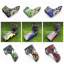 TlTLElST golf putter clown joker cover PUTTER HEADCOVER cameron Johnny jackpot blade putter scotty headcovers Letter T circle T(China)