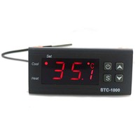 1pcs DC12V 10A Two Relay Output Digital Temperature Controller Thermostat Heat Or Cool Switch LCD Display