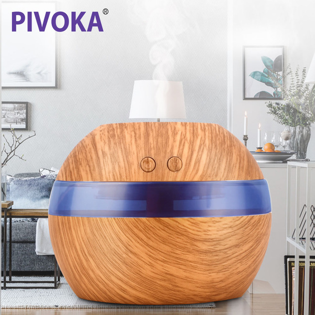 все цены на PIVOKA 300ml Mini Blue Backlight Humidifier Ultrasonic Humidifier Air Aroma Diffuser Mist Maker Essential Oil diffuser of Home