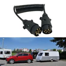 7 Pin Plastic Trailer Plug X2 w/curly extension Cable 1.5M Male to Male 12V Trailer Lighting Board Caravan double acting hydraulic pump 12v dump trailer 3 quart plastic reservoir for dump trailer