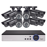DEFEWAY 1080N HDMI DVR 12 1200TVL 720P HD Outdoor Home Security Camera System 16 CH Video