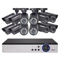 Defeway 1080N hdmi dvr 12 1200tvl 720 pのhd屋外ホームセキュリティカメラシステム16 chビデオ監視dvr ahd cctvキット1テラバイトhdd